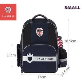 🚚 Cambridge School bag Korea style Primary 1 to Primary 6 Air-Cell Spinal Protection Night Reflective Waterproof backpack for Girls and Boys - Dark Blue (Small)