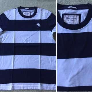 Blue and white stripe shirt Abercrombie & Fitch
