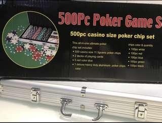 BRAND NEW texas poker chips - 500/1000 chips