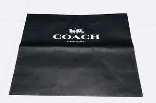 Coach Black Paper Bag
