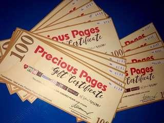 Precious Pages Gift Certificates