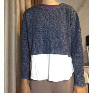 twotone abstract top