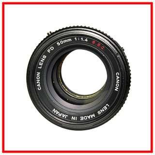 Canon FD 50mm F1.4 SSC Manual Lens #1016958 (Canon FD mount)
