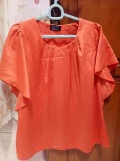 Blouse orange terang