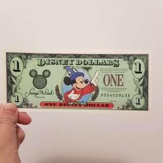*停產絕版* 1997 美國迪士尼鈔票 Disney Dollars