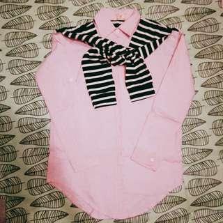 🚚 粉紅色造型襯衫