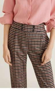 Mango checked trousers