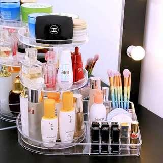 🚚 Acrylic Dual Function Rotating Make Up Organizer