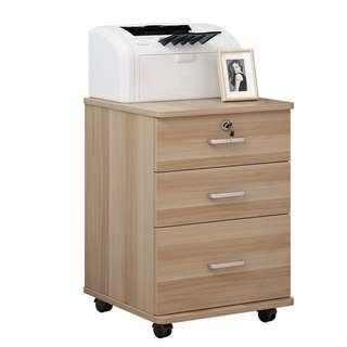 🚚 Lockable Office Home Wooden Mobile Pedestals with top lock