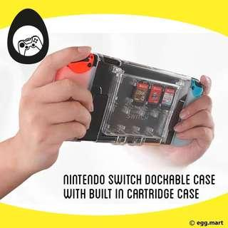 🚚 Nintendo switch Dockable plastic case built in cartridge slots with tpu hand grips Nintendo switch accessories