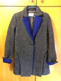 韓國製灰及藍中䄛 black and blue coat