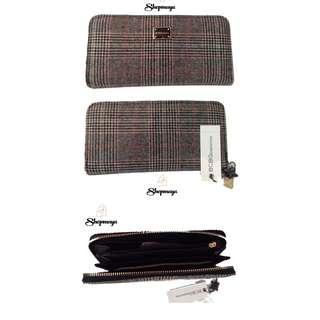 BCBG Continental Plaid Zip Around Women's Wallet (Allison Wallet) 100% Authentic