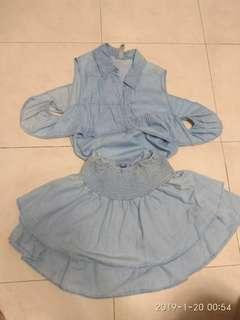 Factorie top and skirt