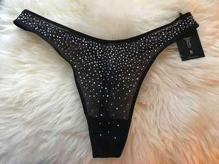 Brand new very sexy VS thong from Fashion Show  with Swarovski crystals and with tags