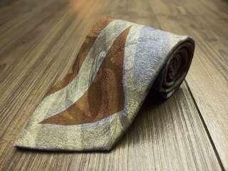 🚚 Vittorio Cotta 🇮🇹義大利製造 正品🇮🇹 大氣百搭款 不規則圖案 100% 真絲 高級手打領帶