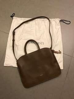 Nina Ricci Brown leather satchel handbag