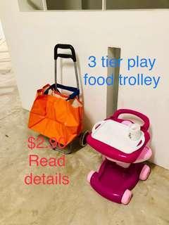 Adult trolley children play trolley