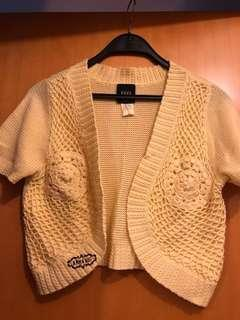 Rare Anna Sui Yellow Knitted Top