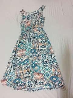 🚚 復古無袖長裙