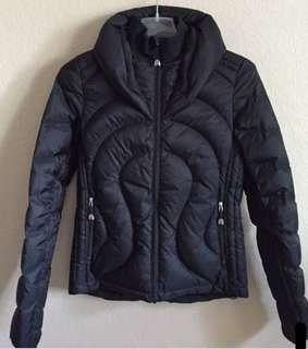 Lululemon 'not so stuffy puffy jacket' - black size 2 - down-filled puffer jacket