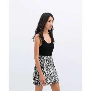 Zara Zebra Print Skirt
