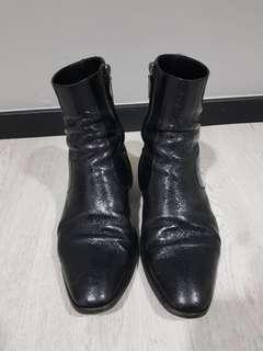 Saint Laurent Metallic Wyatt Boots