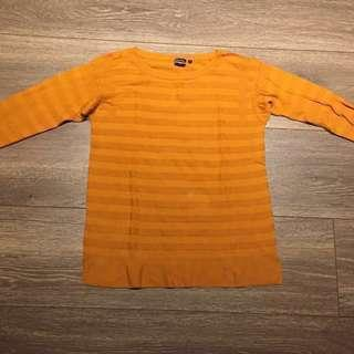 🚚 Uniqlo 芥末黃針織上衣(二手)#衣櫃大掃除