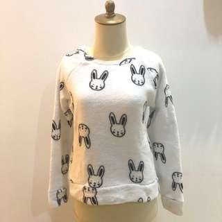 Forever 21 Bunny Fleece Sweater