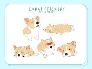 CUTE CORGI DOGGO STICKERS