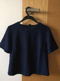 🚚 Navy Blue Top
