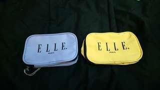 全新ELLE絕版帆布化妝包