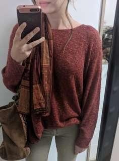 Zara rust lightweight sweater