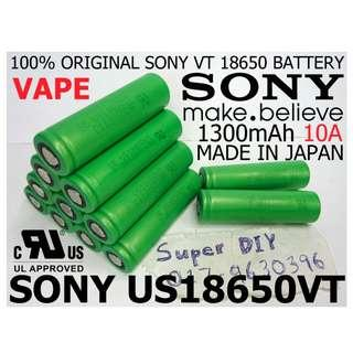 Sony US 18650 VT 3.7V 1300mAh Rechargeable Li-ion High Power Vape Battery 10A