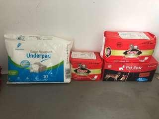 Pet Soft Disposable and Underpad