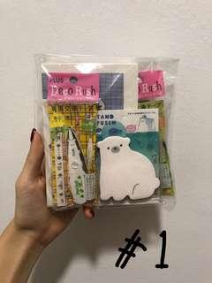 🚚 cute stationery grabbags