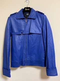 🚚 ☆Superme本舖☆ 日本潮牌iD 皮衣 男休閒外套 時尚新寵 設計師品牌 藍色皮衣