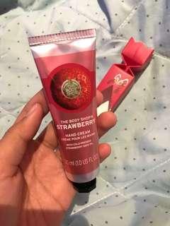 strawberry hand cream the body shop