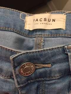 Light Blue PacSun Skinny Jeans