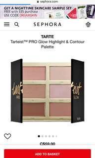 BNIB Tartiest Pro Glow Highlight & Contour Palette