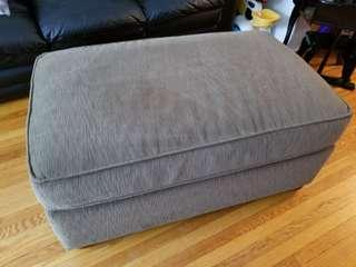 Luxurious ottoman coffee table. Pick up beaches area at main and kingston. Can be used as extra seating or as a coffee table. No stains or rips or tears. Luxurious soft to the touch.  Excellent condition. We paid $500