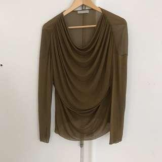 Draped Zara Collection blouse