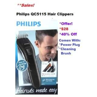 Philips QC5115 Hair Clippers (Haircuts made easy)