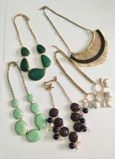 Lot of 5 Necklaces