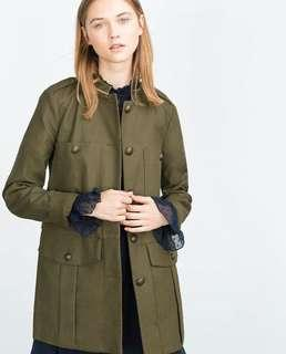 Zara military jacket parka (small)