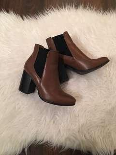Forever 21 Chelsea Ankle Booties | Brown, 6