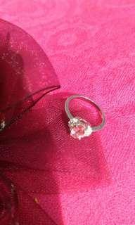 🚚 甜美粉紅碧璽戒指