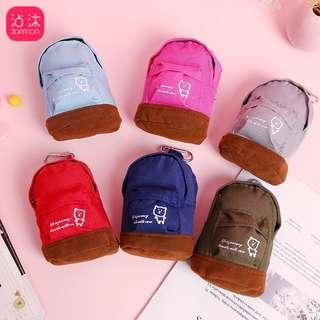 Ready Stocks! Cute mini backpack coin / card pouch @ $3 only!!! 7 solid colours to choose from!