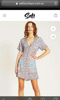 Arnhem Marigold Mini dress size 10 EUC colour Crystal Blue