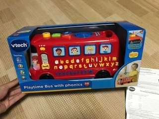 Vtech playtime bus with phonics 英文拼音巴士 遊戲