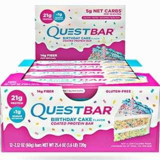 Quest Protein Bar 高蛋白營養棒 (12條)  Birthday Cake